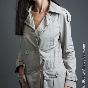 Kenneth Cole Mid length Ladies Trench Coat Med
